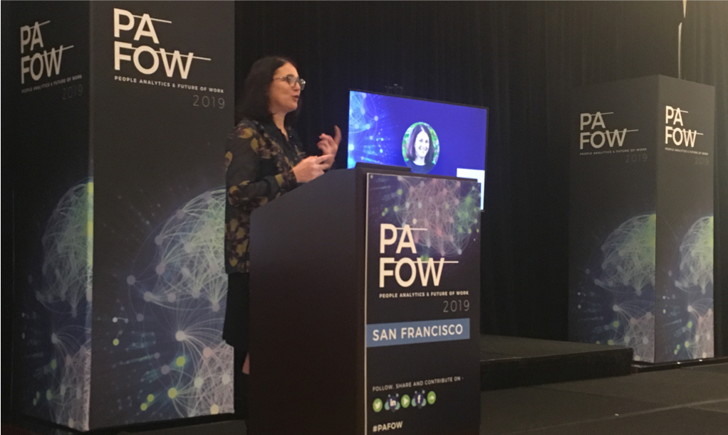 Dawn Klinghoffer, Head of People Analytics at Microsoft, speaking at the PAFOW conference in San Francisco on 31 January 2019