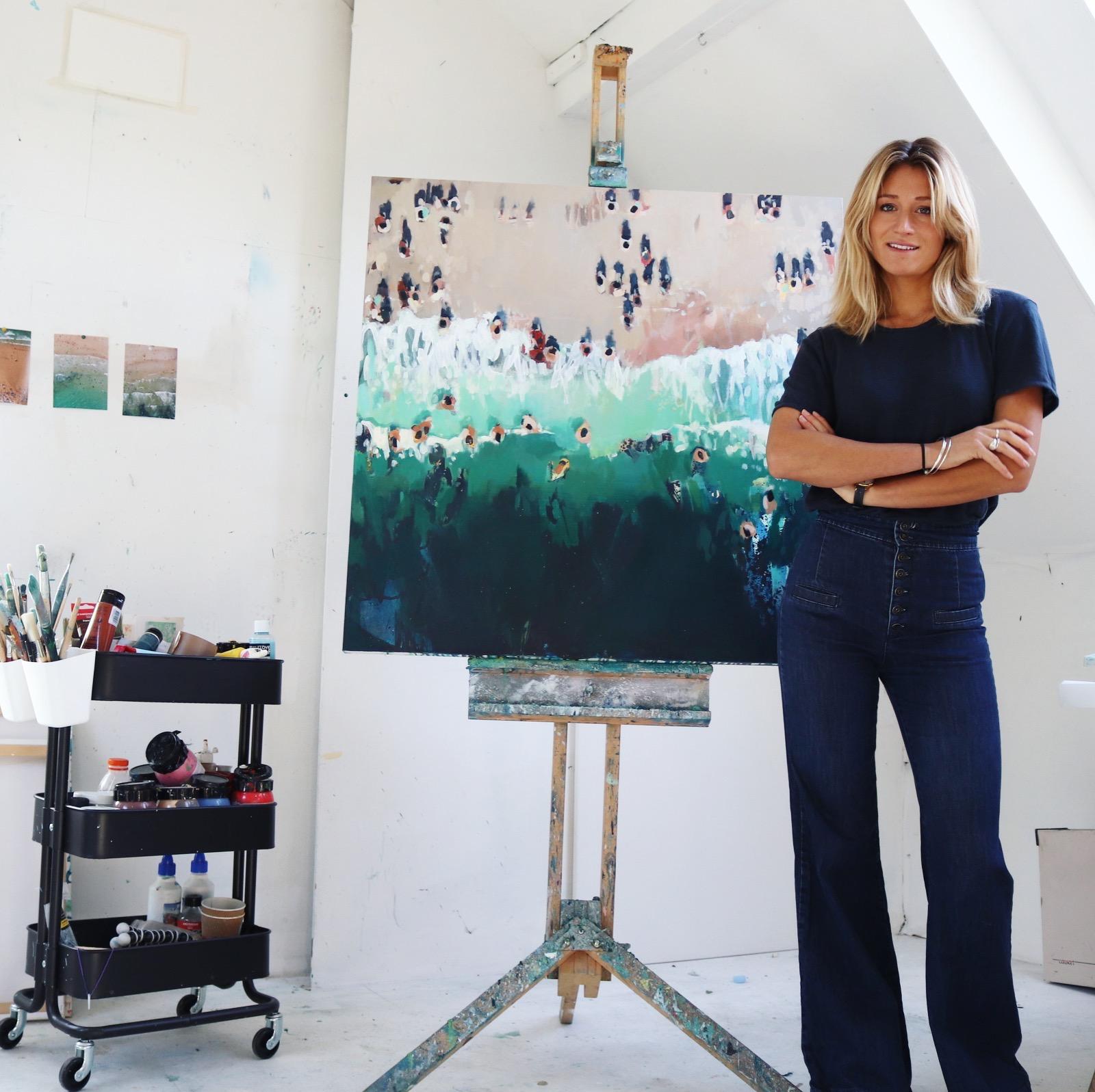 Nina Brooke in her studio in Rock, Cornwall