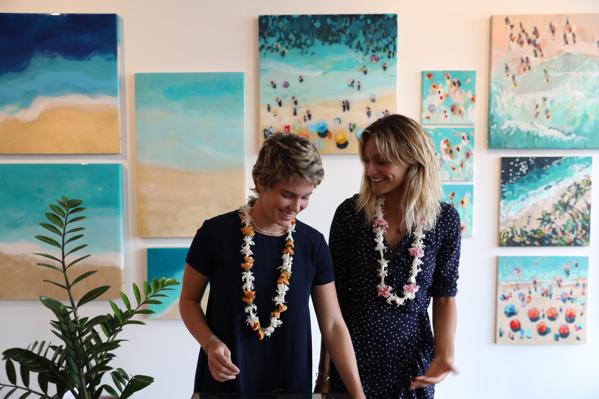 Nina Brooke & Bree Poort at their Aloha Superette opening evening