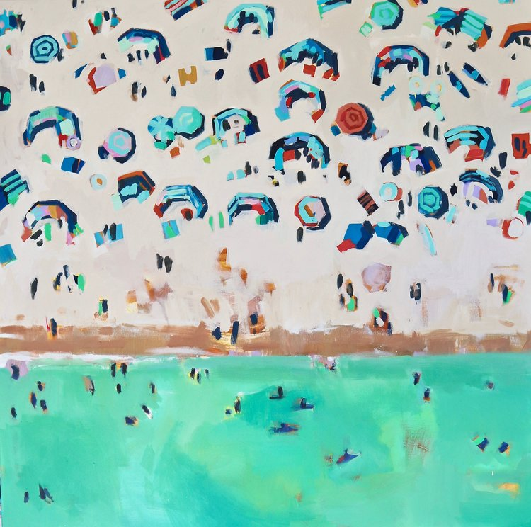 Pasty Crowds, 120 x 120 cm, acrylic on canvas