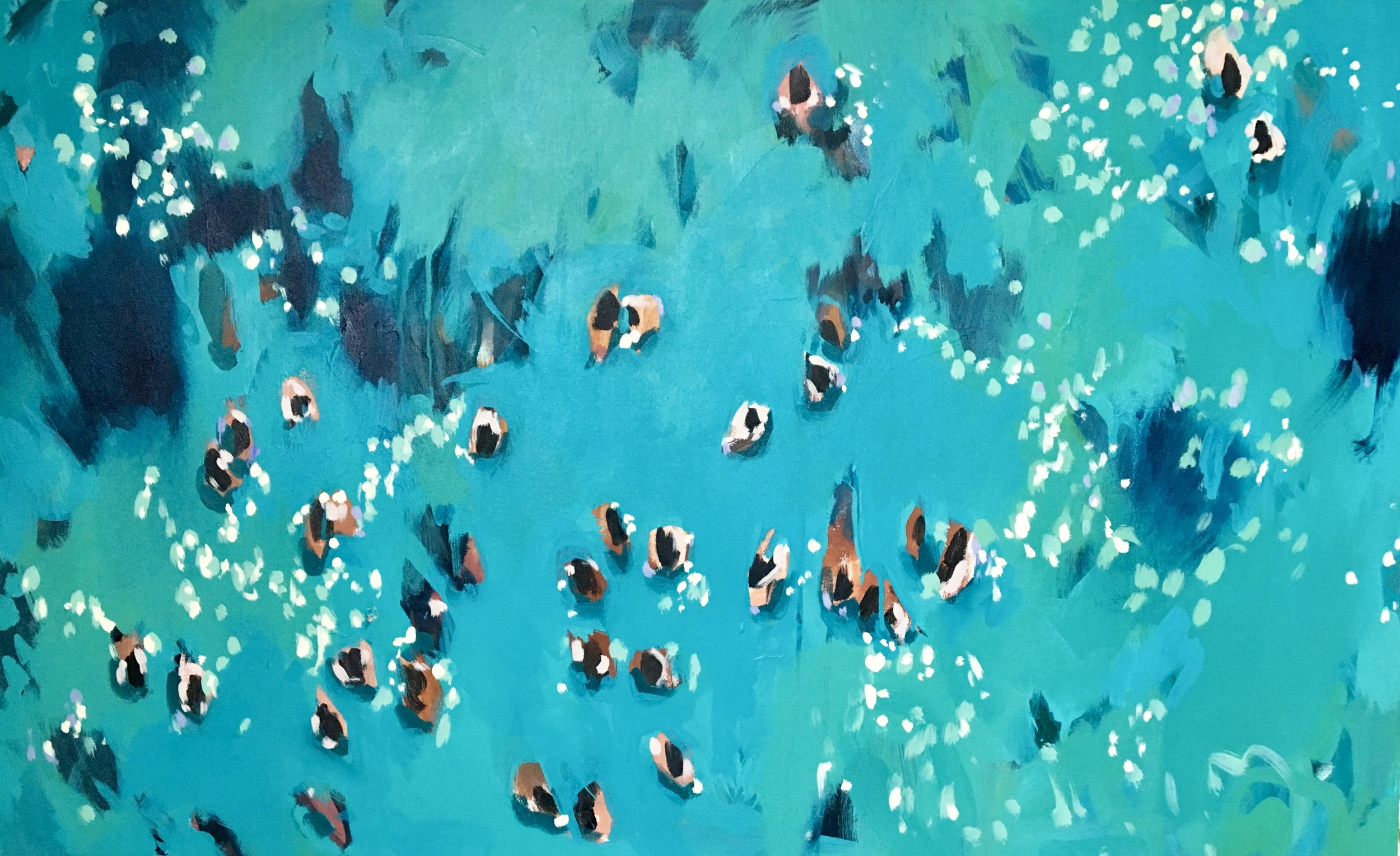 Nina Brooke Blue Swimmers, 2018 70 x 113 cm acrylic on canvas £ SOLD