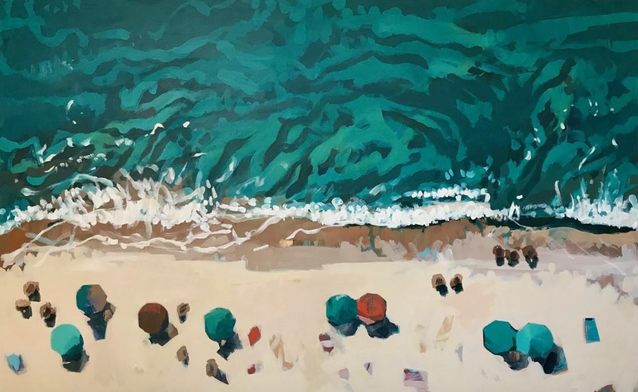 Nina Brooke Tiger Bay Acrylic on canvas 70cm x 115cm