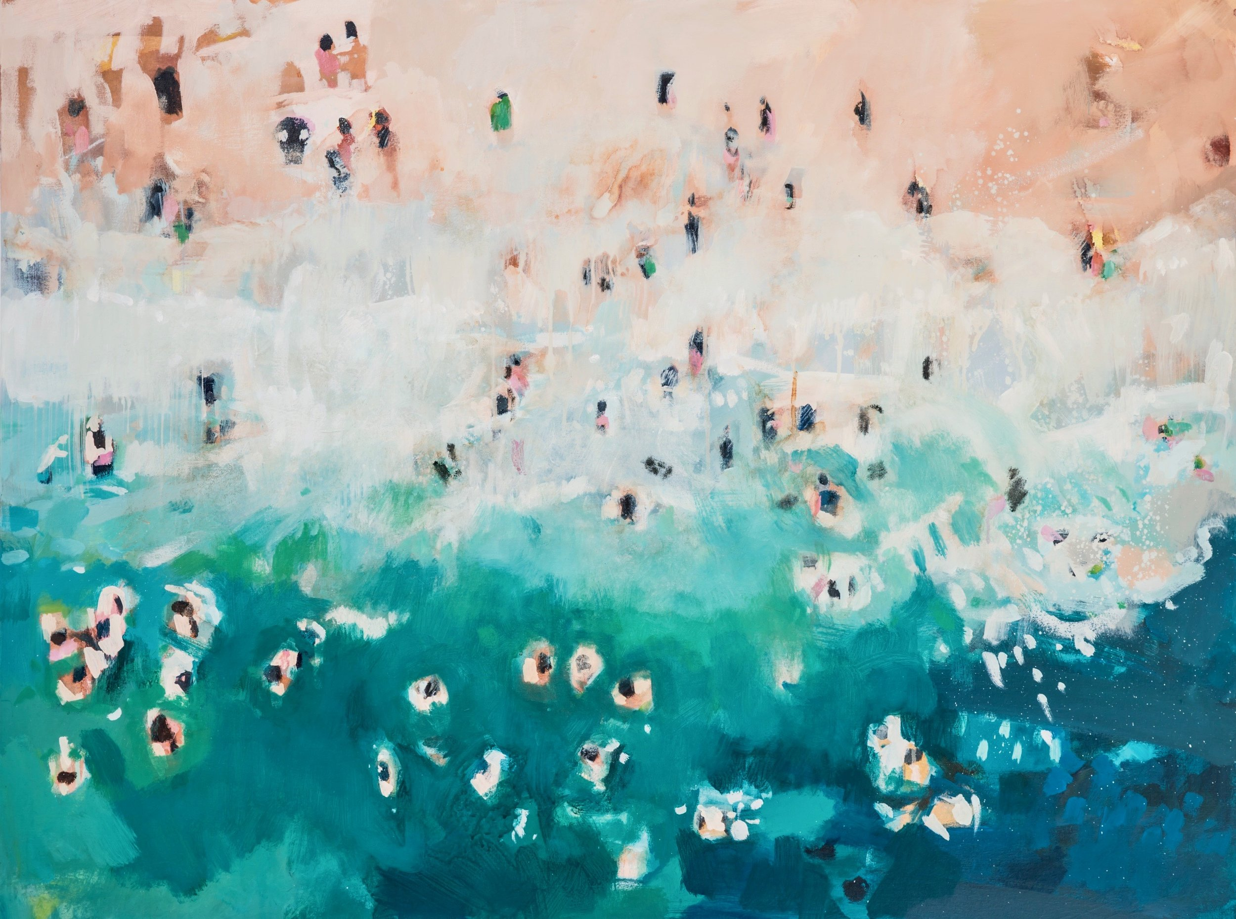 Nina Brooke | Shoreline Limited Edition Giclee Print  74.4 x 100 cm £400 89.3 x 120 cm £500  Edition of 60  Each print is accompanied by a signed certificate of authenticity