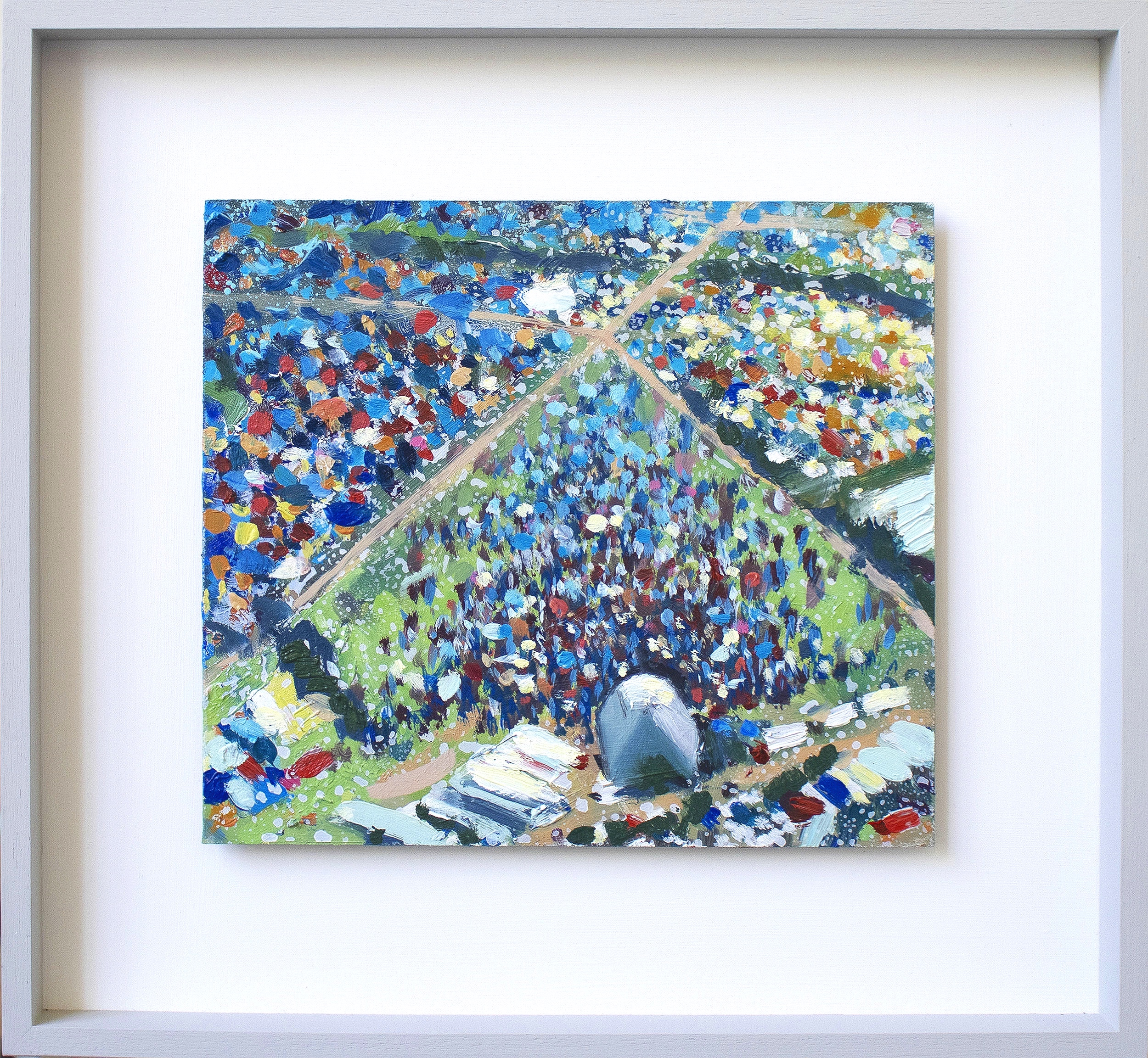 Glastonbury Oil on board 45cm x 50cm framed SOLD