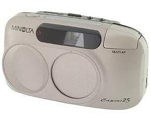 Minolta Capios 25 (Battery powered film camera)