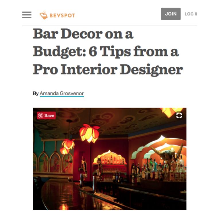 Bar Decor on a Budget
