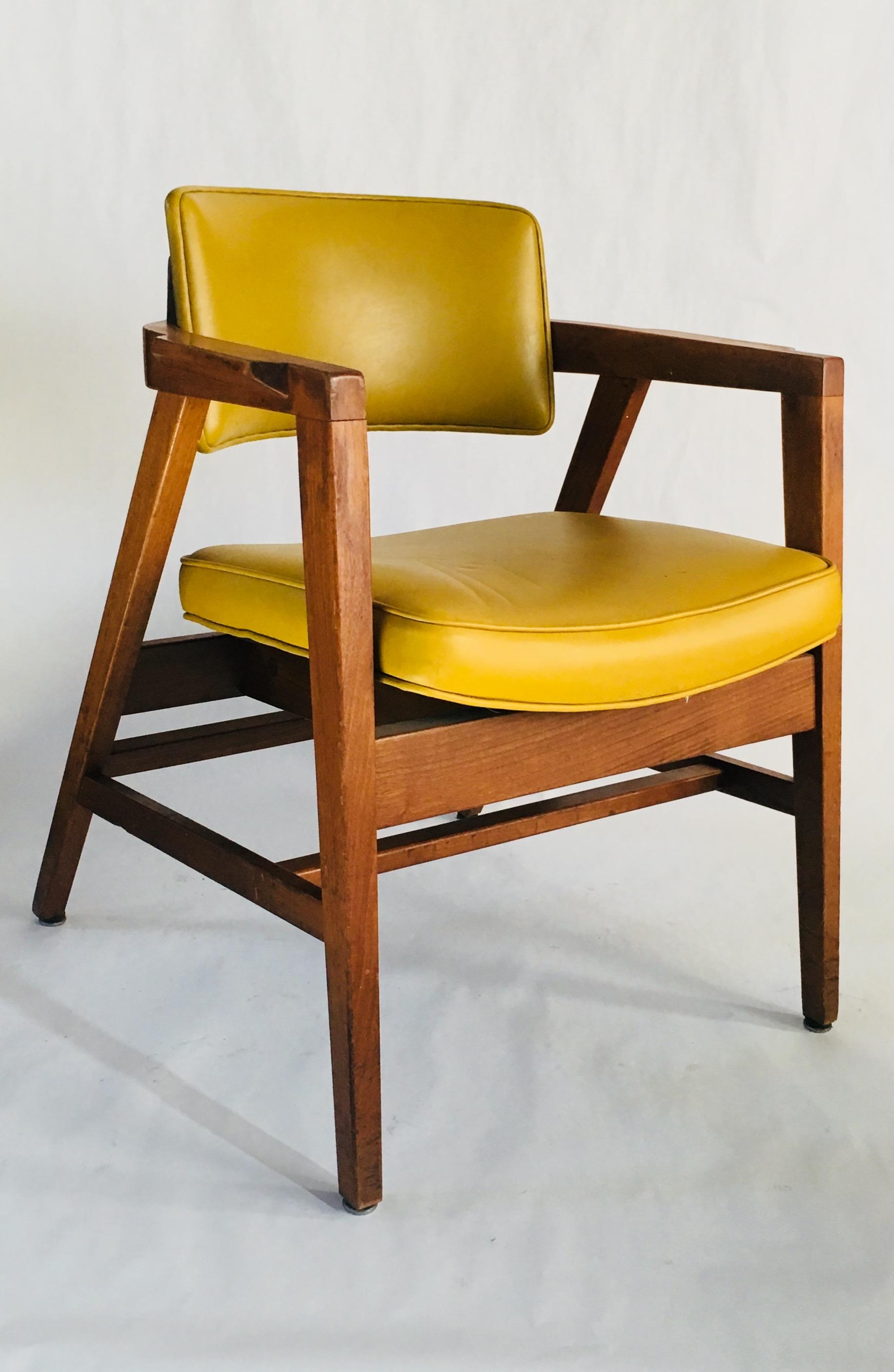 Vintage Yellow Modern Arm Chair by Gunlocke Chair Co3.jpg