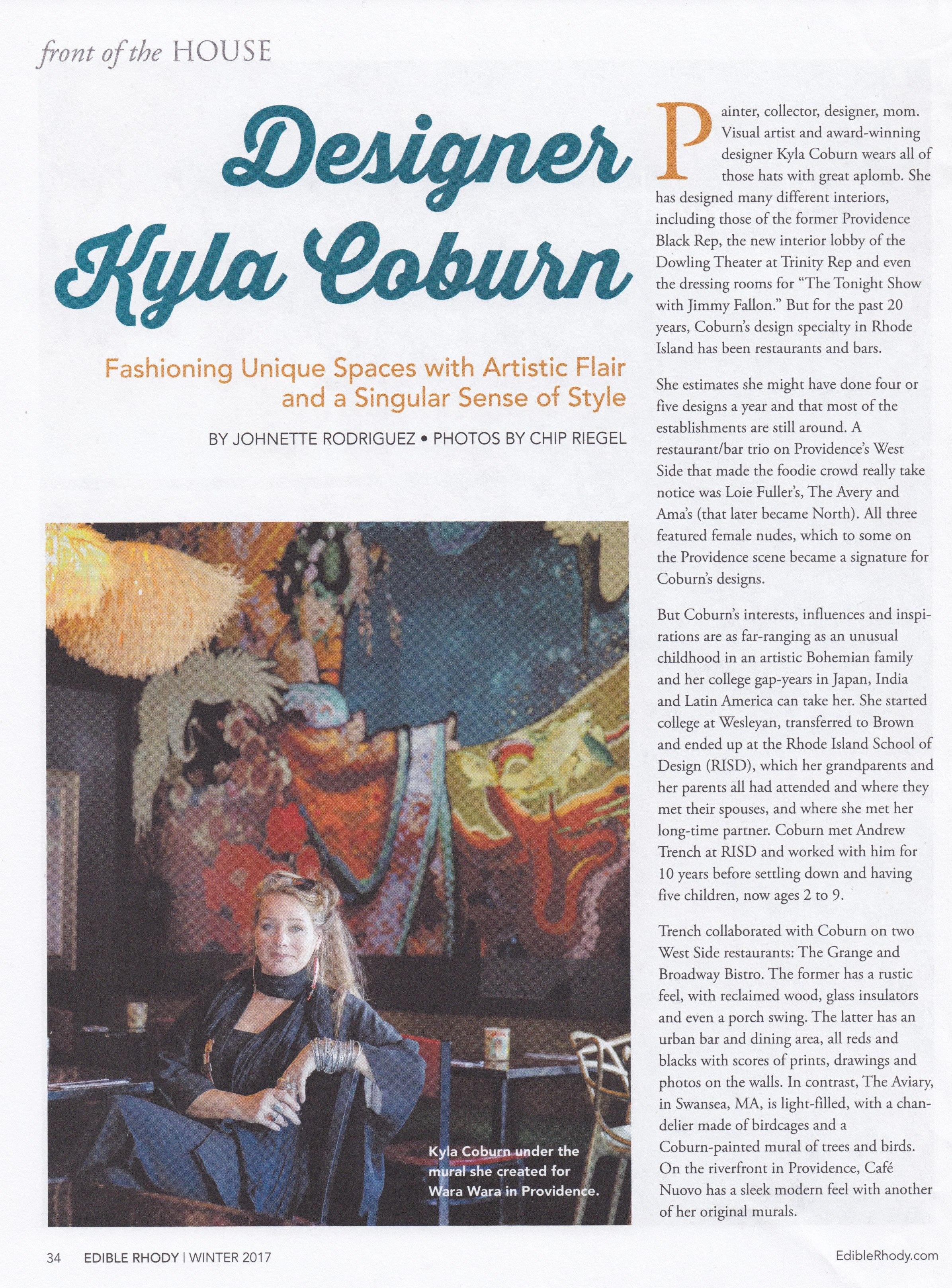 Designer Kyla Coburn
