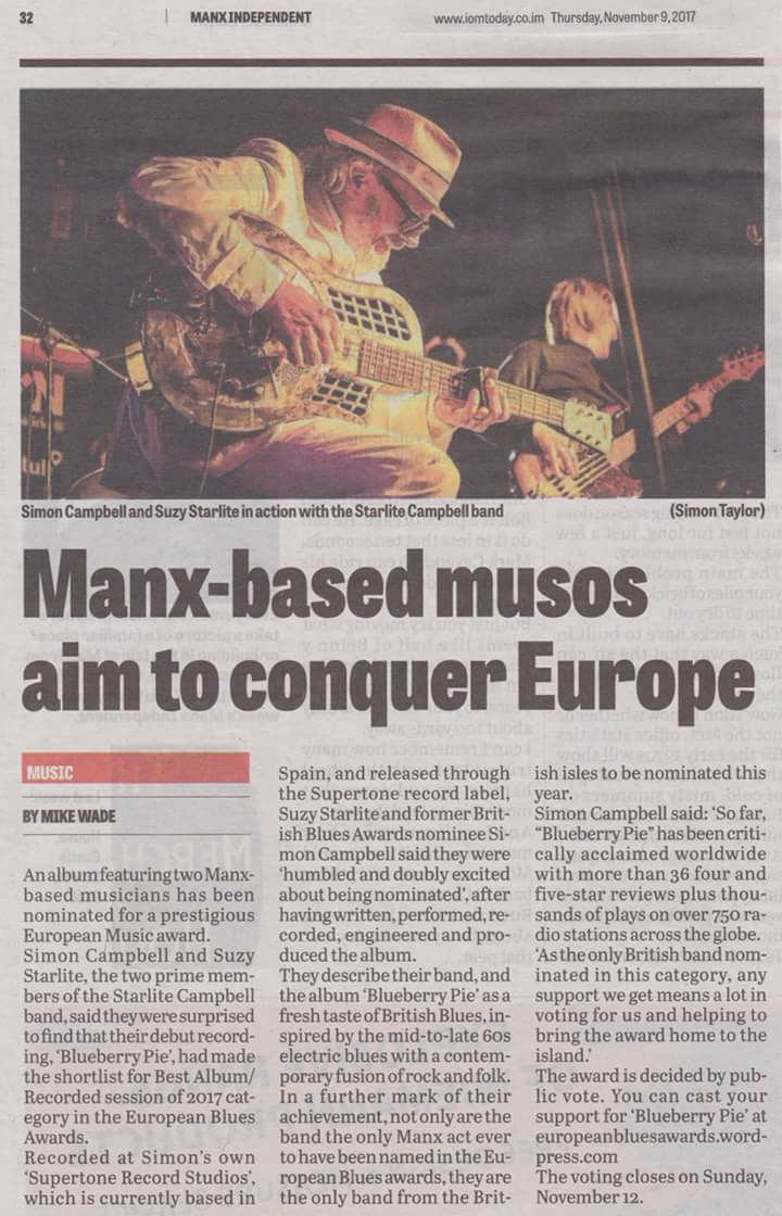 Publication in Manx Independant