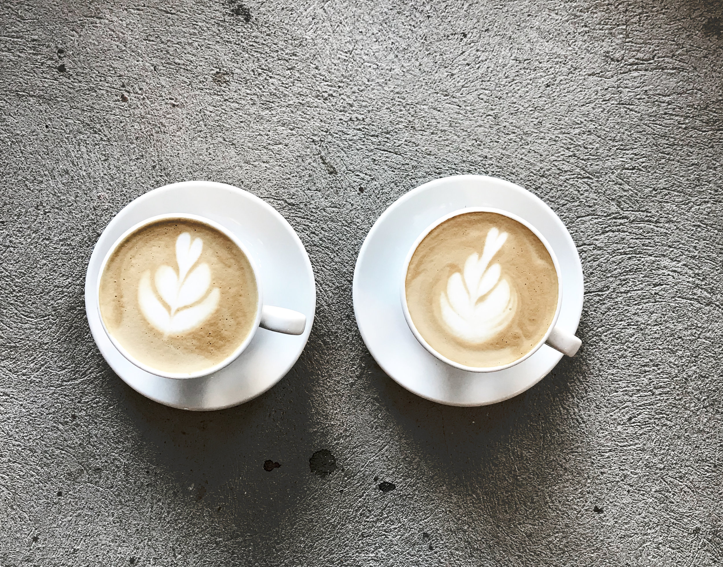 two coffees living their last moments -