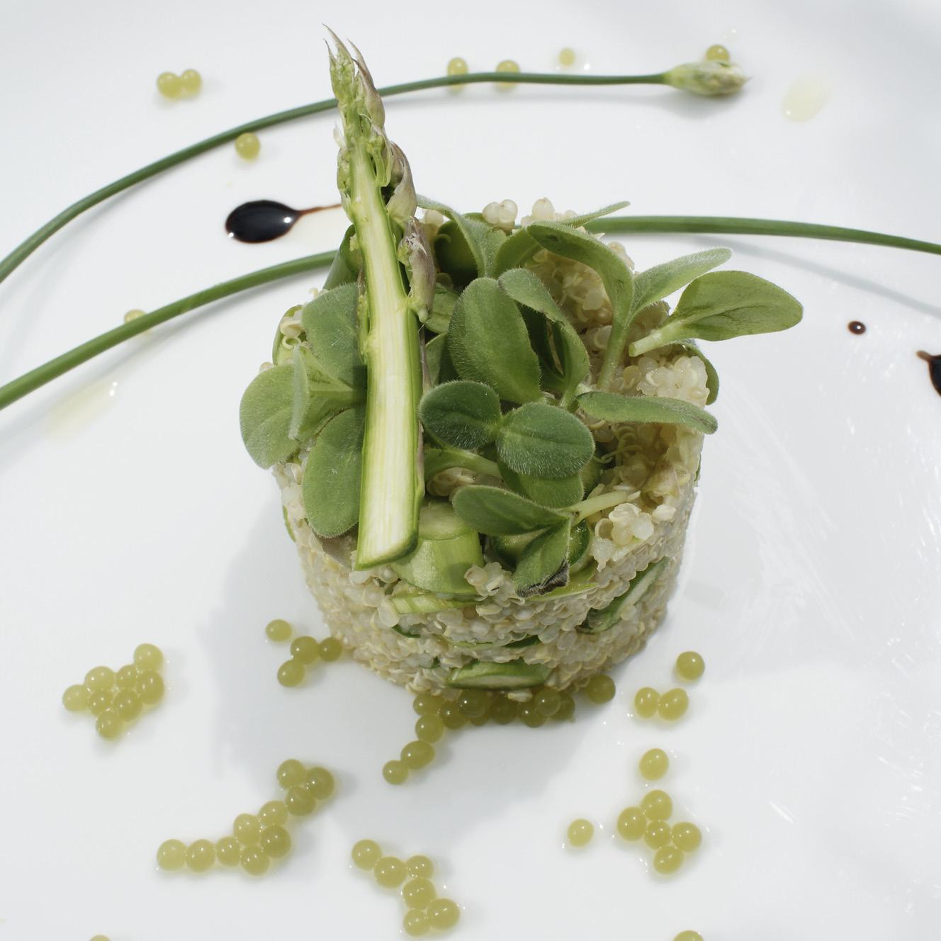 Quinoa mit Grünspargel-Kaviar