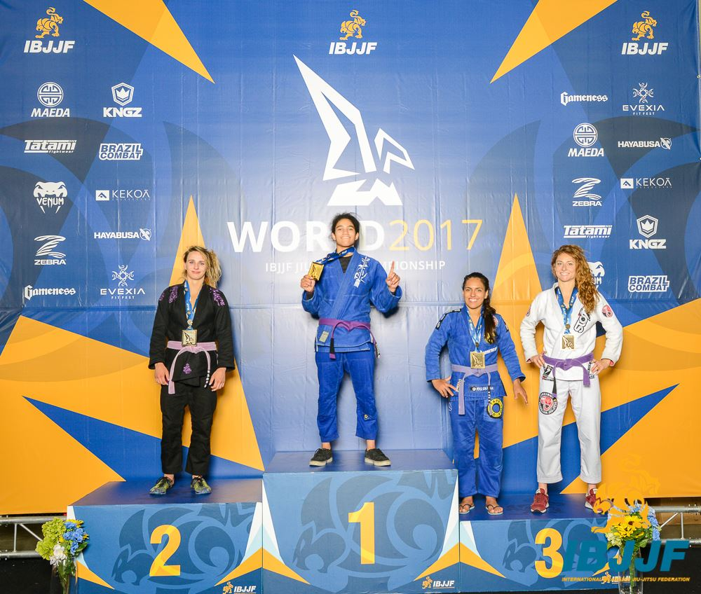 Caroline Collins placed third in the Purple / Adult / Female / Light Weight division