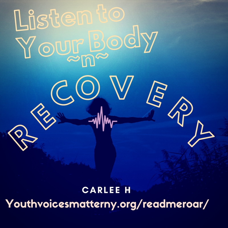 "Listen To Your Body ~n~ Recovery - Hey friends, Carlee here. I wanted to fill you all in on something that that happened in my early recovery.You see, for a long time while I was using I would get this terrible abdominal pain. This pain would also come with dry heaving and nausea. I didn't know what it was or what was causing it. Shortly after I got clean, I went to the doctor. It was explained to me that I had an issue with my gall bladder. My first thought was ""What the hell is a gall bladder?"" So I asked and got some more information. Basically the gall bladder digests fats and filters toxins from food and mine was not working properly.So, I ended up having the surgery for the doctors to remove it. I felt so much better after the surgery was over. However, a few years later I noticed that abdominal pain was coming back. It was horrible and some nights were spent crying until I went to sleep. I decided to do some research and then I remembered what the doctor told me before surgery. ""Your gall bladder digests fats."" OH! And I don't have one anymore so I probably shouldn't be eating fatty food!It was like a lightbulb went off in my head. I had a decision to make. I could either keep eating fatty food while suffering the consequences, or I could change my diet and not suffer from the pain. I chose to change my diet.Here are some examples of how I eat healthier but still satisfy some of the cravings.·         STAY AWAY FROM FAST FOOD! I have been doing a lot more cooking at home. If there is a meal or entrée you are craving from a restaurant, look up the recipe online and chances are it will be made with some healthier ingredients.·         Instead of a greasy hamburger from McDonalds, I choose to make my own hamburgers at home with 95% lean and 5% fat ground beef.·         When I'm craving chocolate (which I often do) I eat dairy-free chocolate ice cream (Also, I want to mention that most of the time we are craving something sweet, it's because we are dehydrated and need to drink water)Also, exercise!! I make my way to the gym 3-5 times a week and that really helps me feel my best. It is important to get those muscles moving. Exercise is one of the key elements to living a healthy lifestyle.Hopefully this helps the next person who has to undergo gall bladder surgery or is struggling with dietary problems.And remember to ALWAYS listen to what your body is telling you.Take care friends."