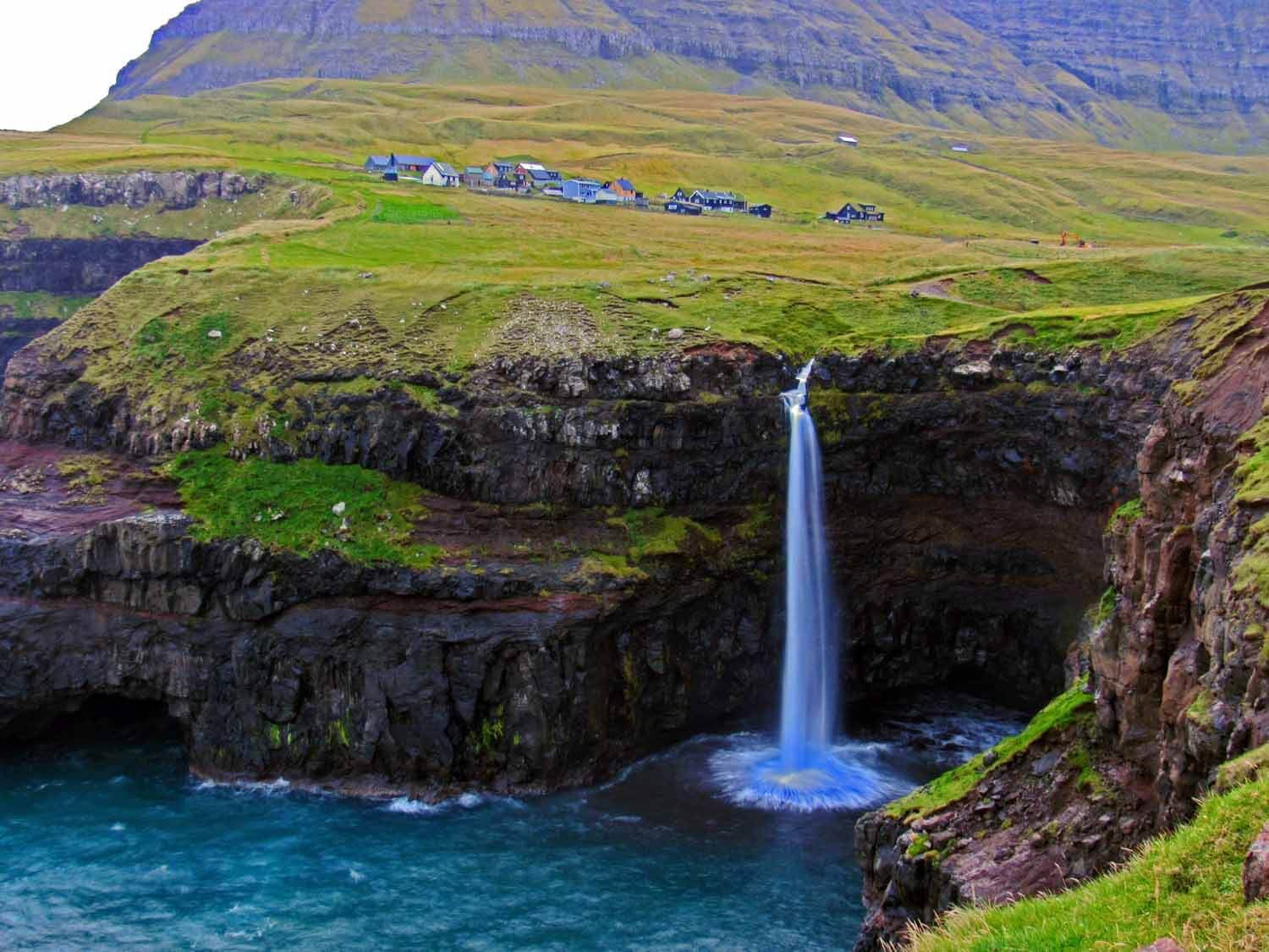 Vágar Island - Vágar it a must! Don't miss the Gásadalur waterfall. A hike around the Faroe's largest lake which will reward you with epic views of a lake looming above the ocean!