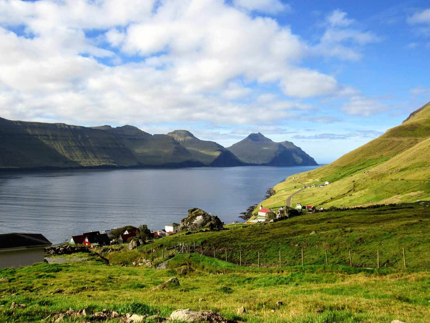 Kunoy, Bordoy, Vidoy Islands - Our top recommendation while visiting Bordoy is to hike from Klaksvík to Hálsur and finally up to Klakkur. Although Klakkur only stands 413 meters high, the view of Klaksvík below as well as the view of Eysturoy, Kalsoy, Kunoy and Bordoy beyond are well worth your time and effort!