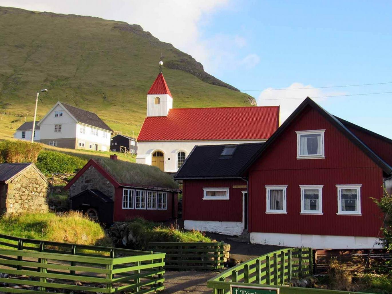 denmark-faroe-islands-kalsoy-mikladalur-village-red-roof-church.JPG