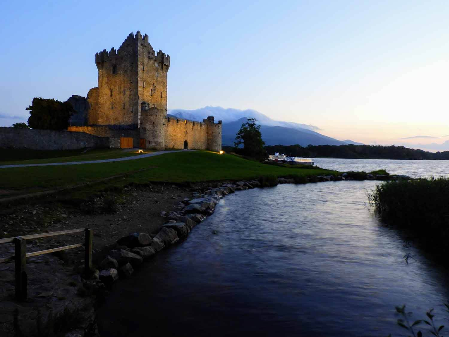 Ross Castle  - I won't ever forget watching the sunset over the horizon as we wandered around the 15th century Ross Castle along the banks of Killarney's lower lake. Memories like this are why Killarney National Park will forever hold a special place in our hearts. I'd bet most people visit this castle during the day (as tours are available then), but if given the chance, we recommend a sunset picnic! Ours consisted of bread and cheese - typical for us.