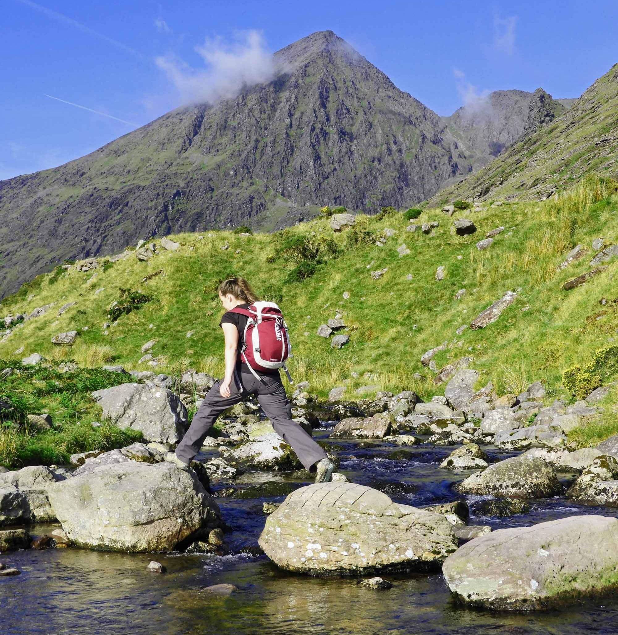 Carrauntoohil Peak - Ireland's highest mountain (1,038 m / 3,406 ft) and one of our very favorite Irish adventures!If you like a good hike, don't miss this one!