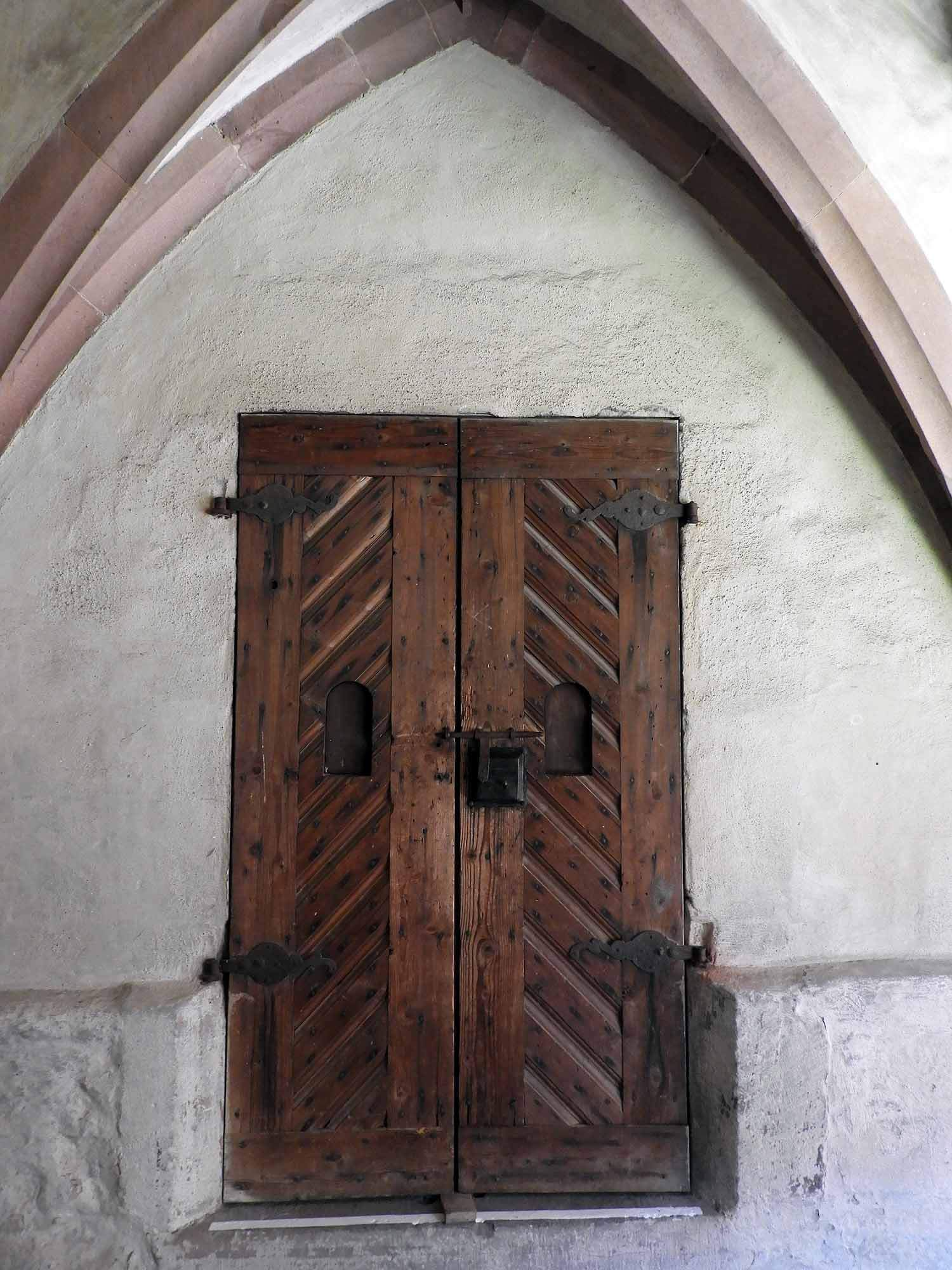 germany-alpirsbach-kloster-monestary-wood-door.JPG