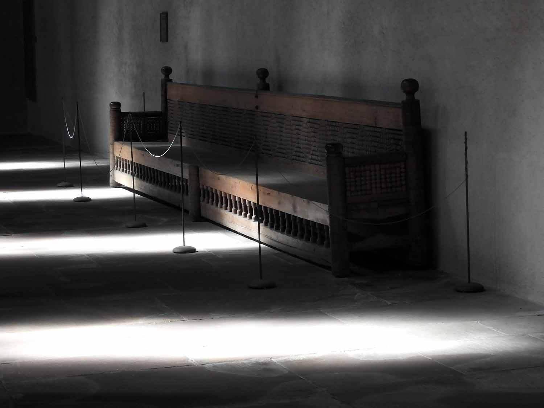 germany-alpirsbach-kloster-monestary -bench-monk.JPG
