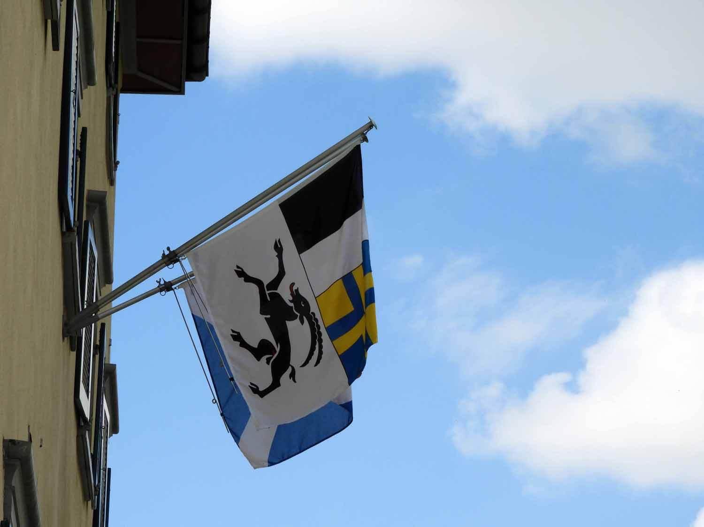 switzerland-oberalppass-vorderrhein-river-valley-disentis-flags.JPG