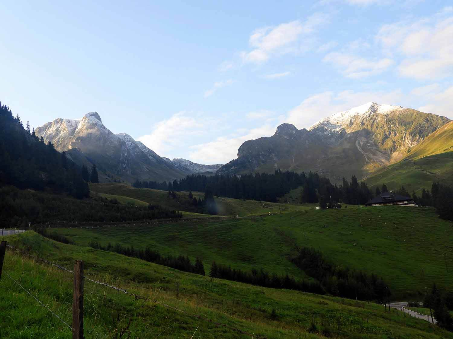 Gurnigel Pass - After leaving Fribourg we took the scenic rout over the mountains toward the east.