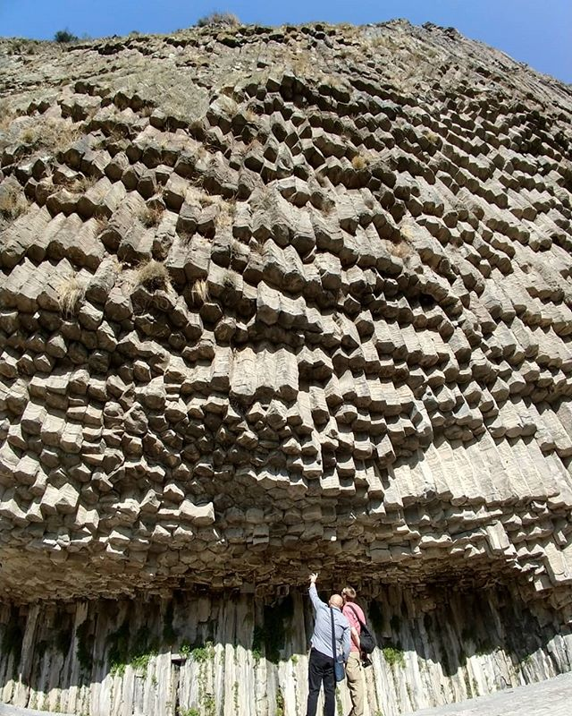Can you hear it? Named for their resemblance of organ pipes, the #symphonyofstones in the #garnigorge are quite the sight to see.  #maiastratravel #maiastra #maistralife #armenia #basaltcolumns #caucasus