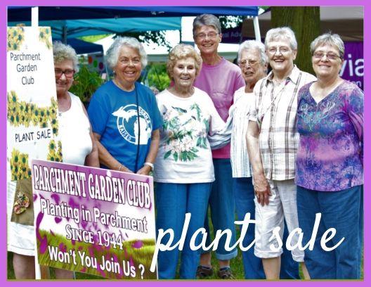 Parchment Garden Club    Plant Sale