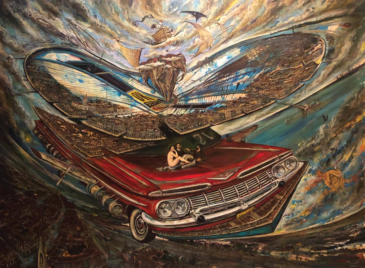 VICENTE HERNANDEZ  Recuerdos deun Almuerzo (Memories of a Lunch)  2015 Oil on Canvas Loan Courtesy of an Anonymous Collector