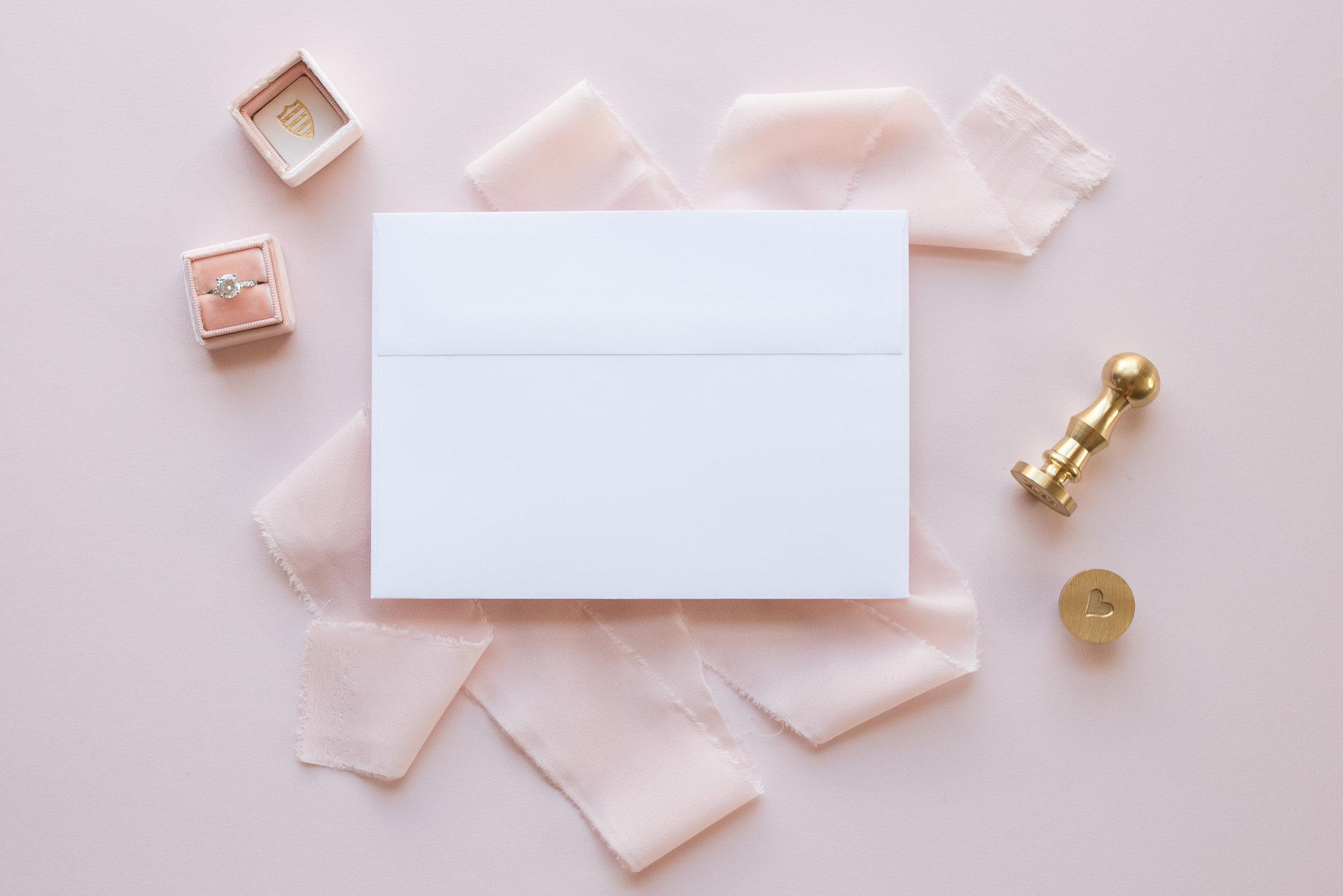 Blush Envelope Mockup