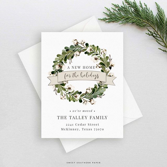 A New Home For the Holidays | New Address Announcement- this and lots of new designs going into the shop! Shop the link in profile