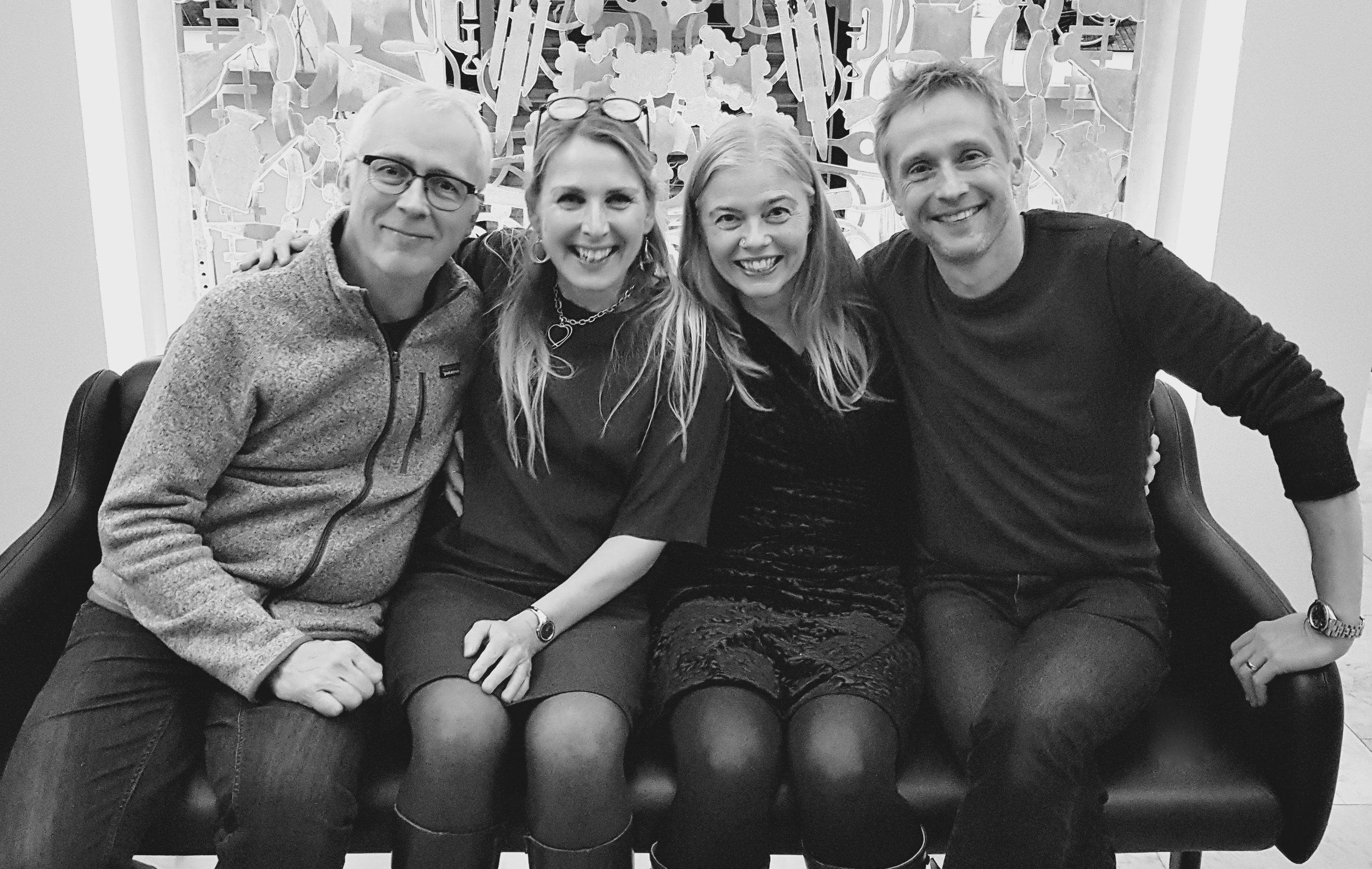 From left, Peder Karlsson, Margareta Bengtson, Katarina Henryson and Anders Edenroth.