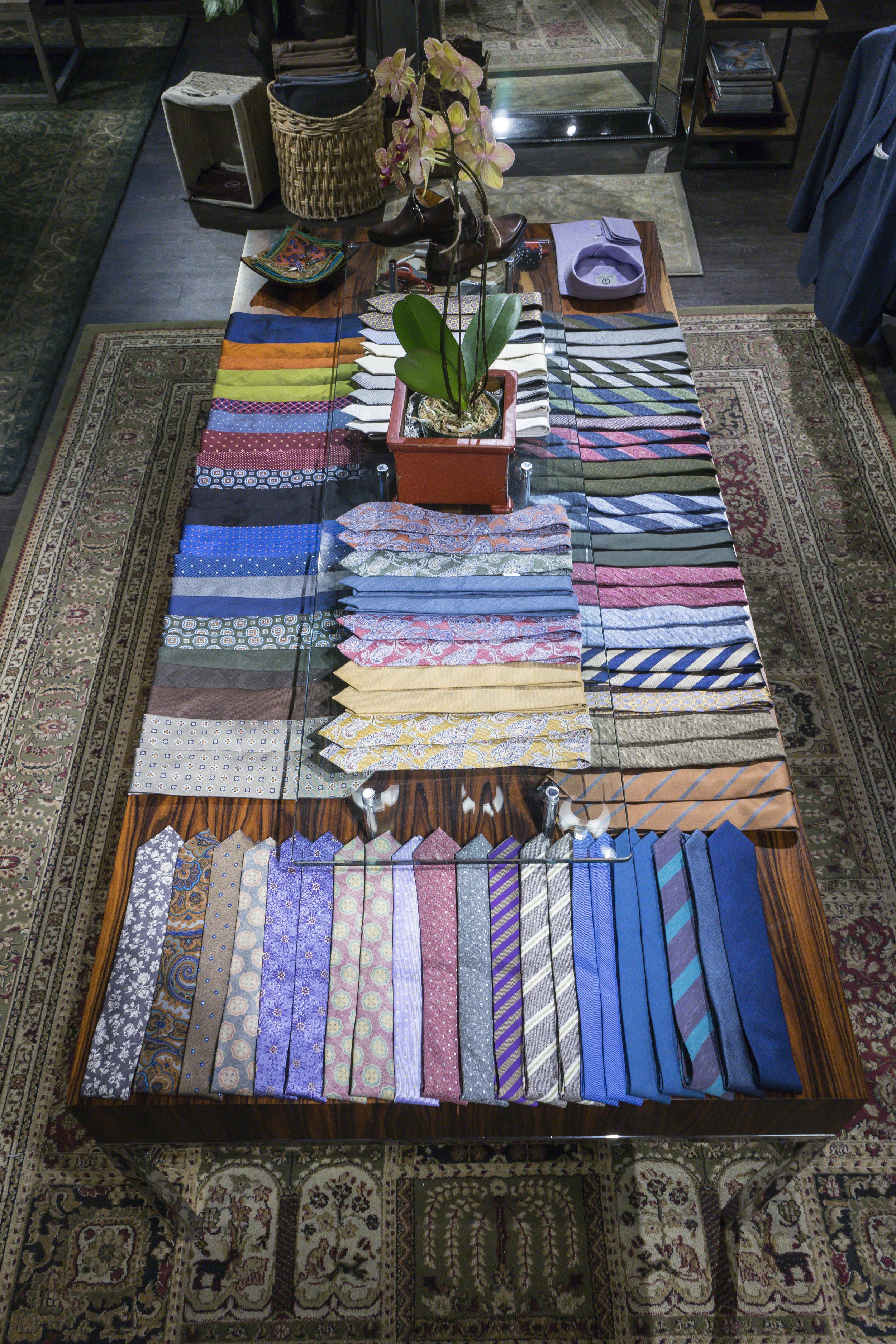 chicago showroom custom necktie