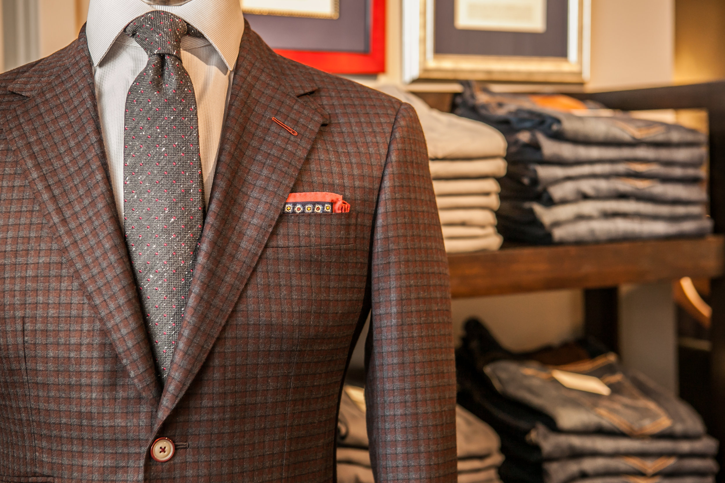 custom plaid sport coat