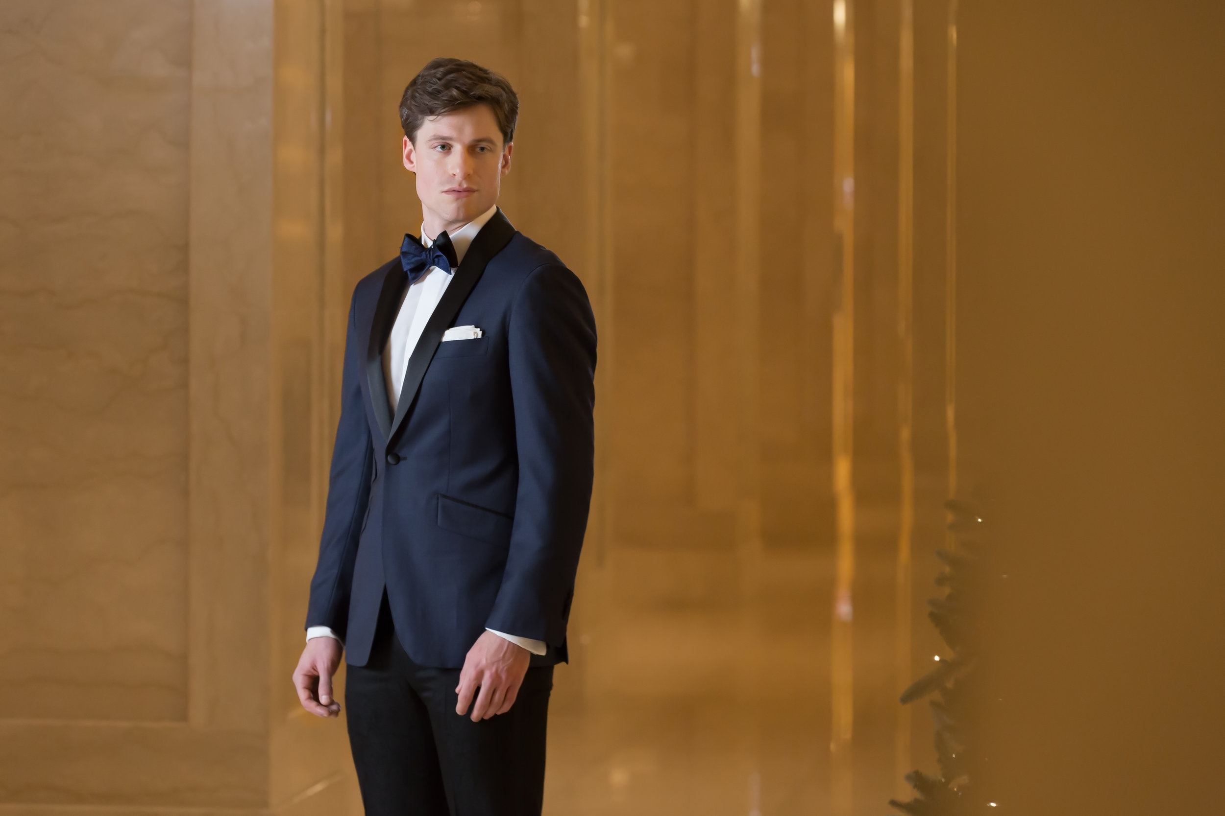 custom midnight blue tuxedo
