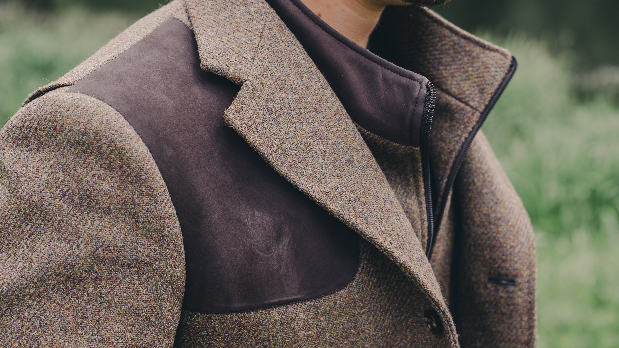 bespoke shooting jacket suede leather