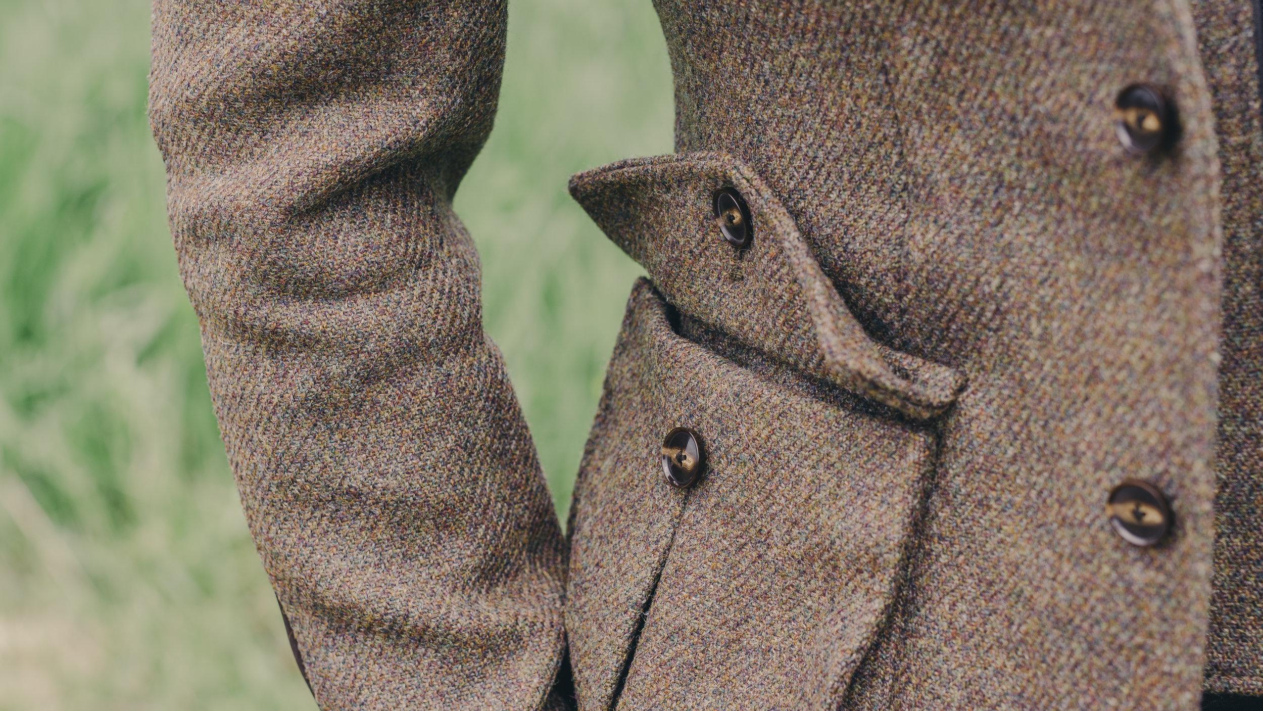 custom made tweed shooting jacket