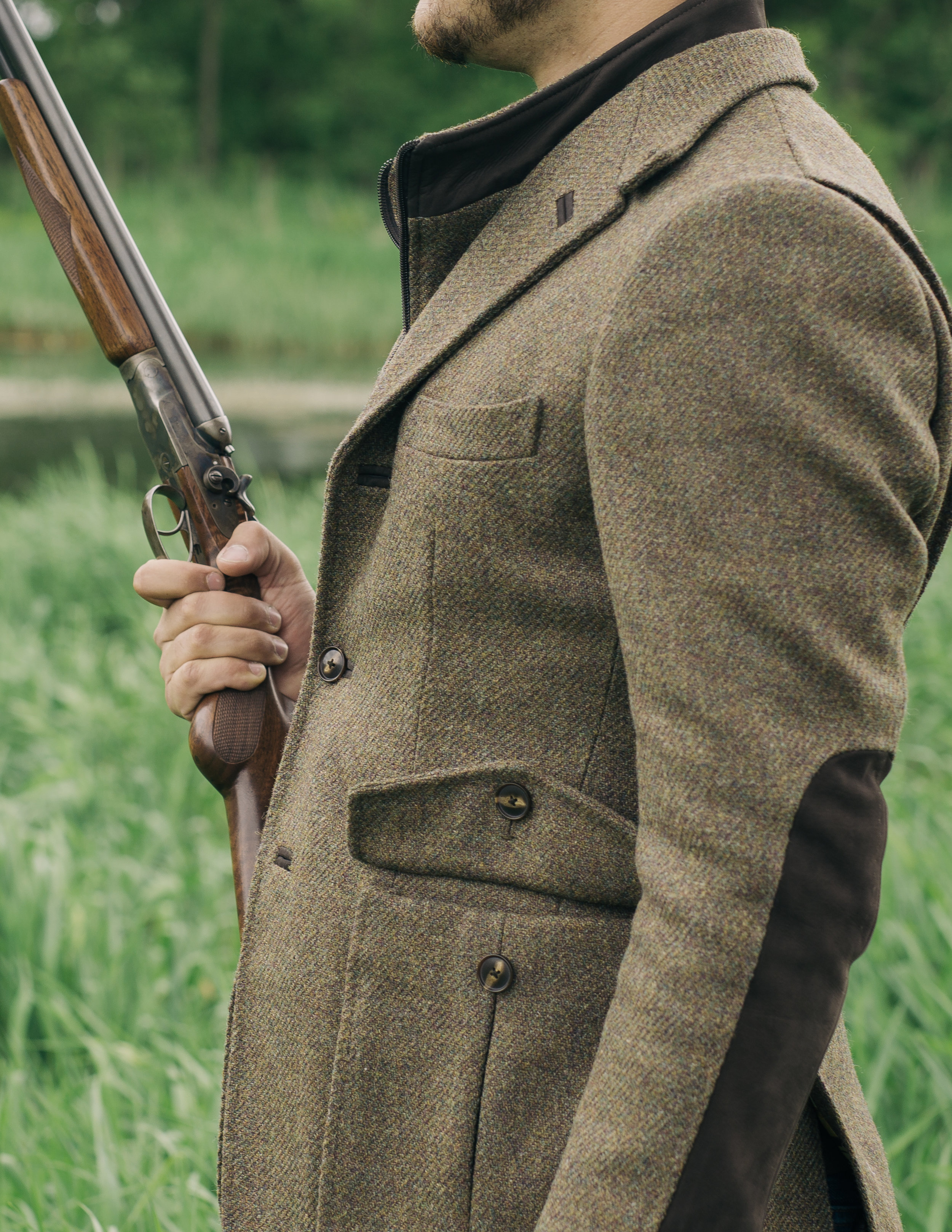 custom donegal tweed shooting jacket