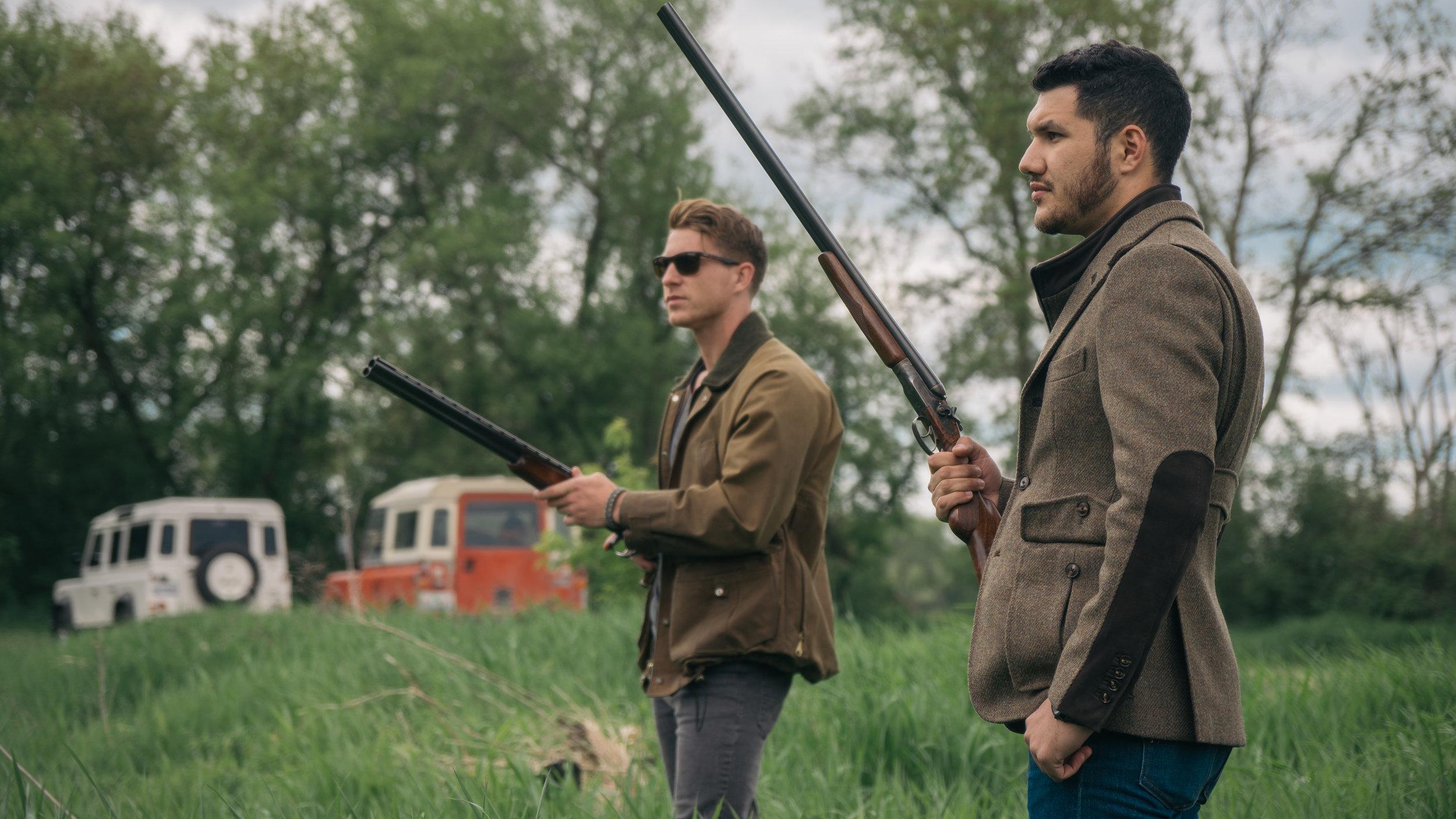 bespoke shooting coat