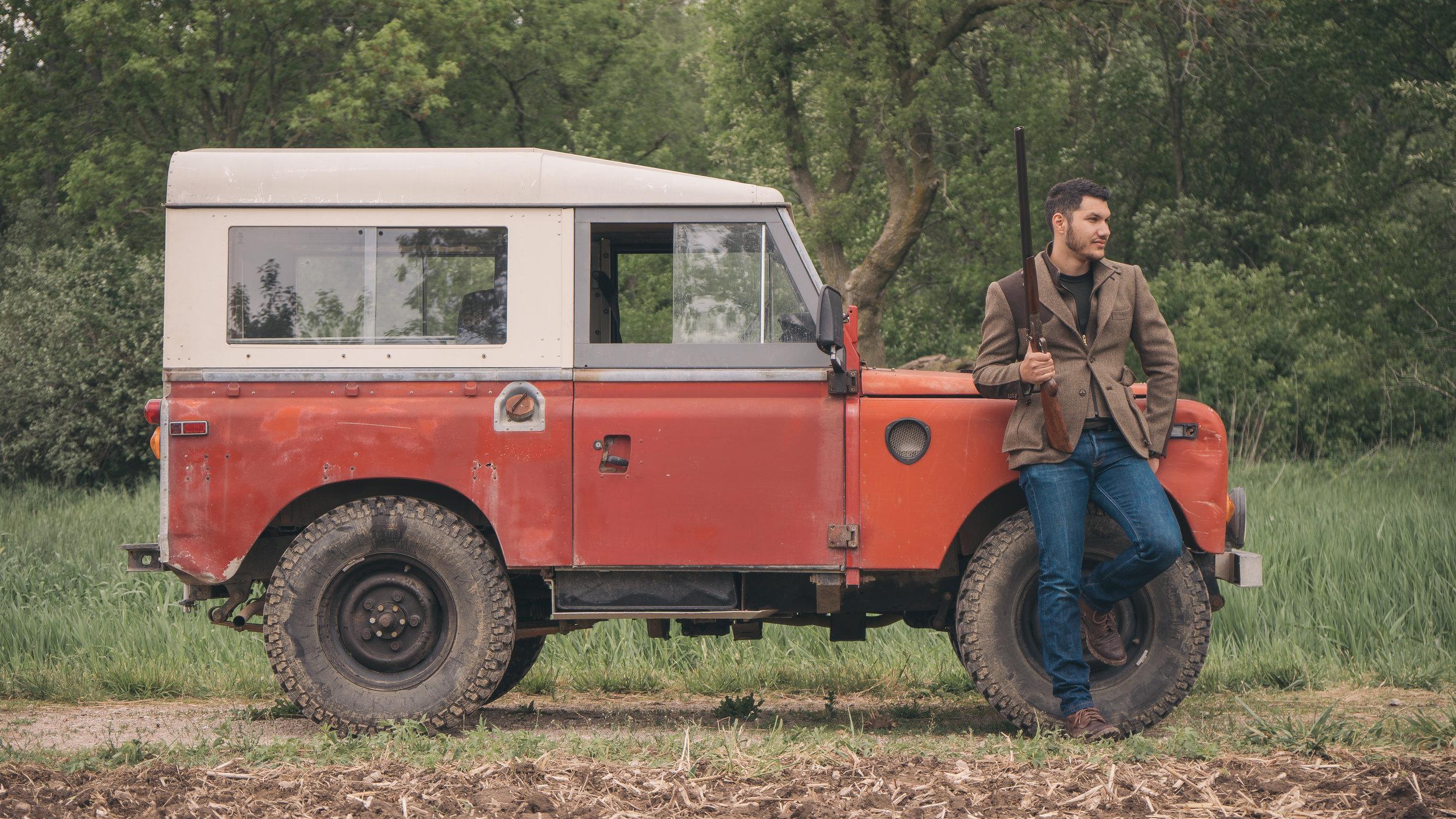 Daniel George custom tweed hunting jacket