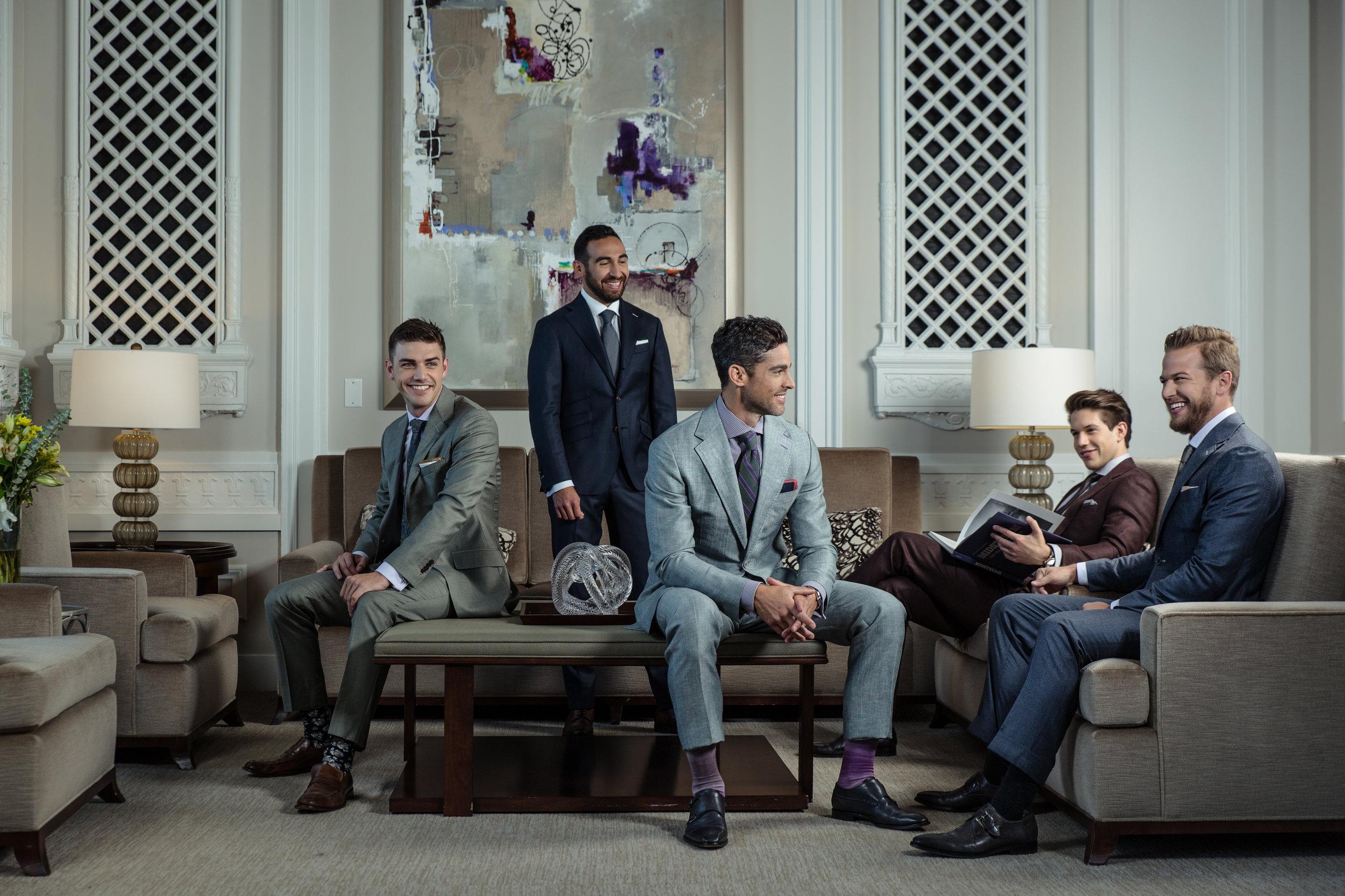 custom made bespoke tailored suits