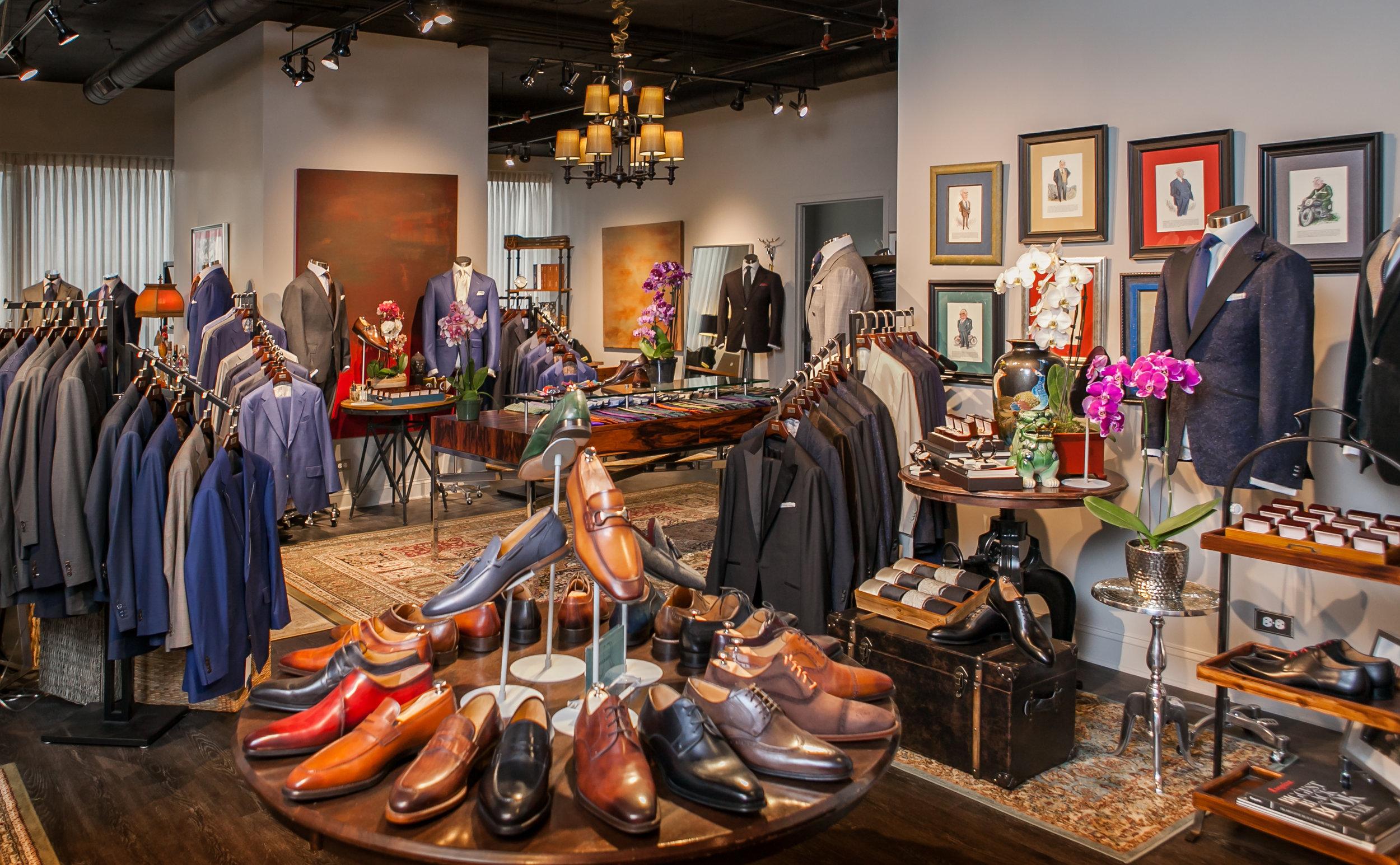 custom suits chicago showroom