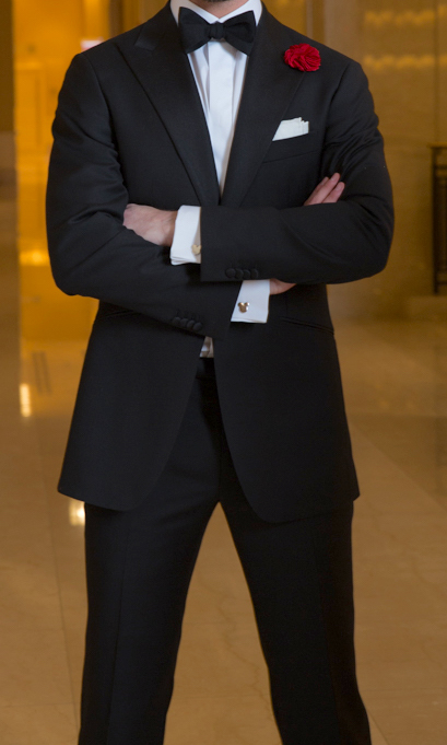 custom black tuxedo Chicago