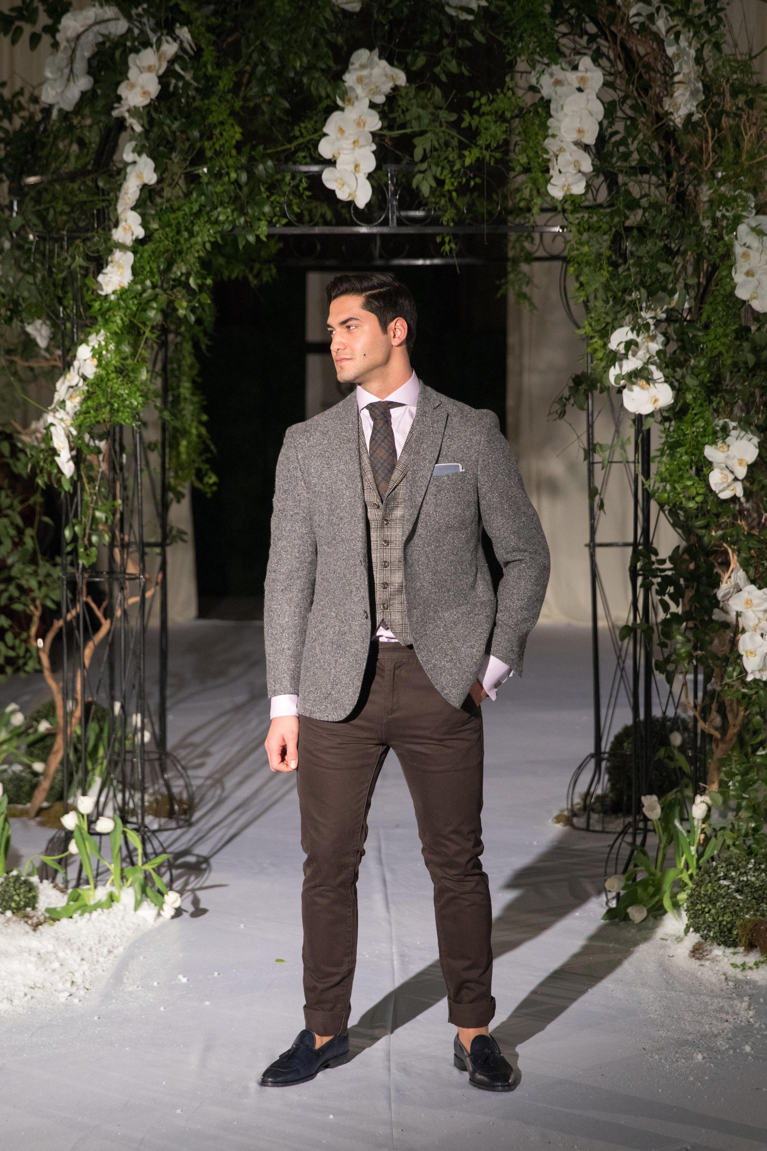 custom tweed vest and sport coat