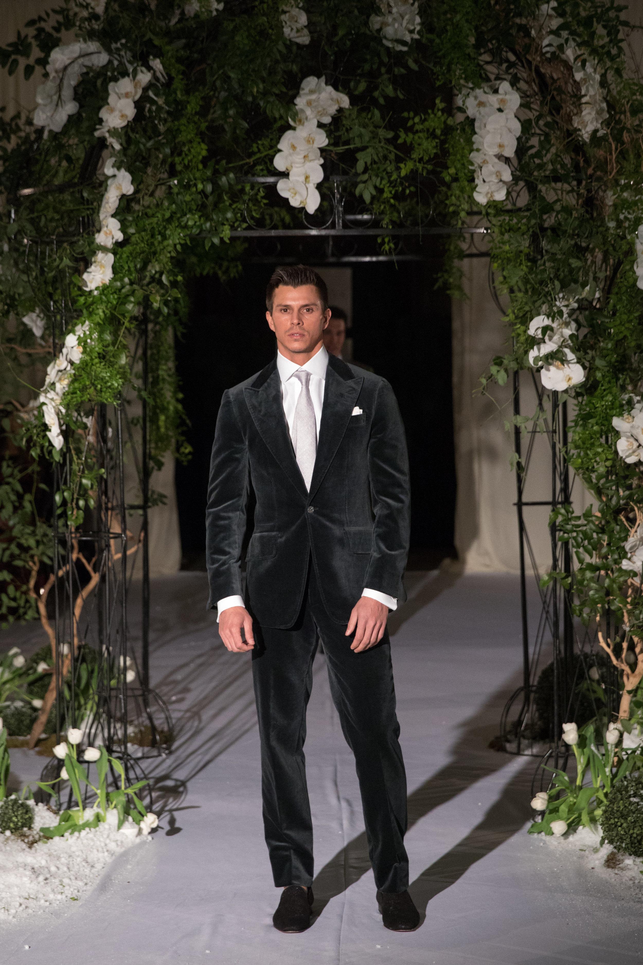 custom velvet formal suit