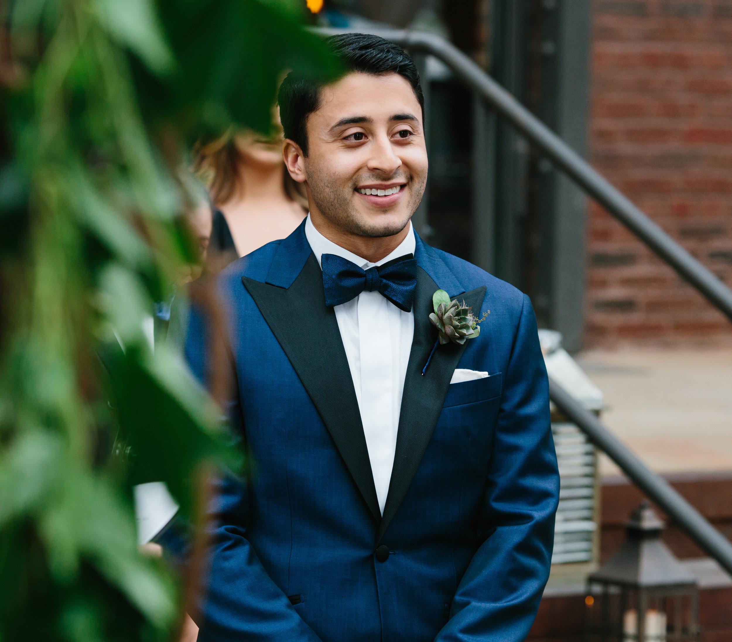 custom midnight blue wedding tuxedo