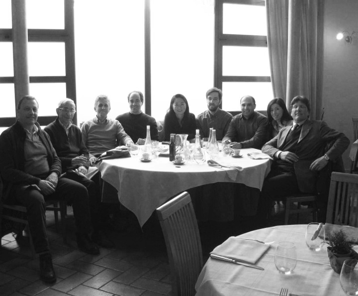 The construction team for Italcementi i.lab at lunch. © Richard Meier & Partners