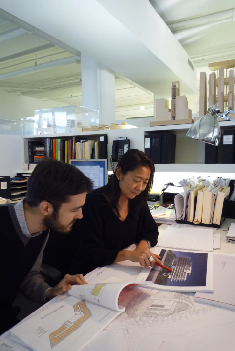 Vivian with Simone Ferracina, a colleague and collaborator for 10 years. © Richard Meier & Partners