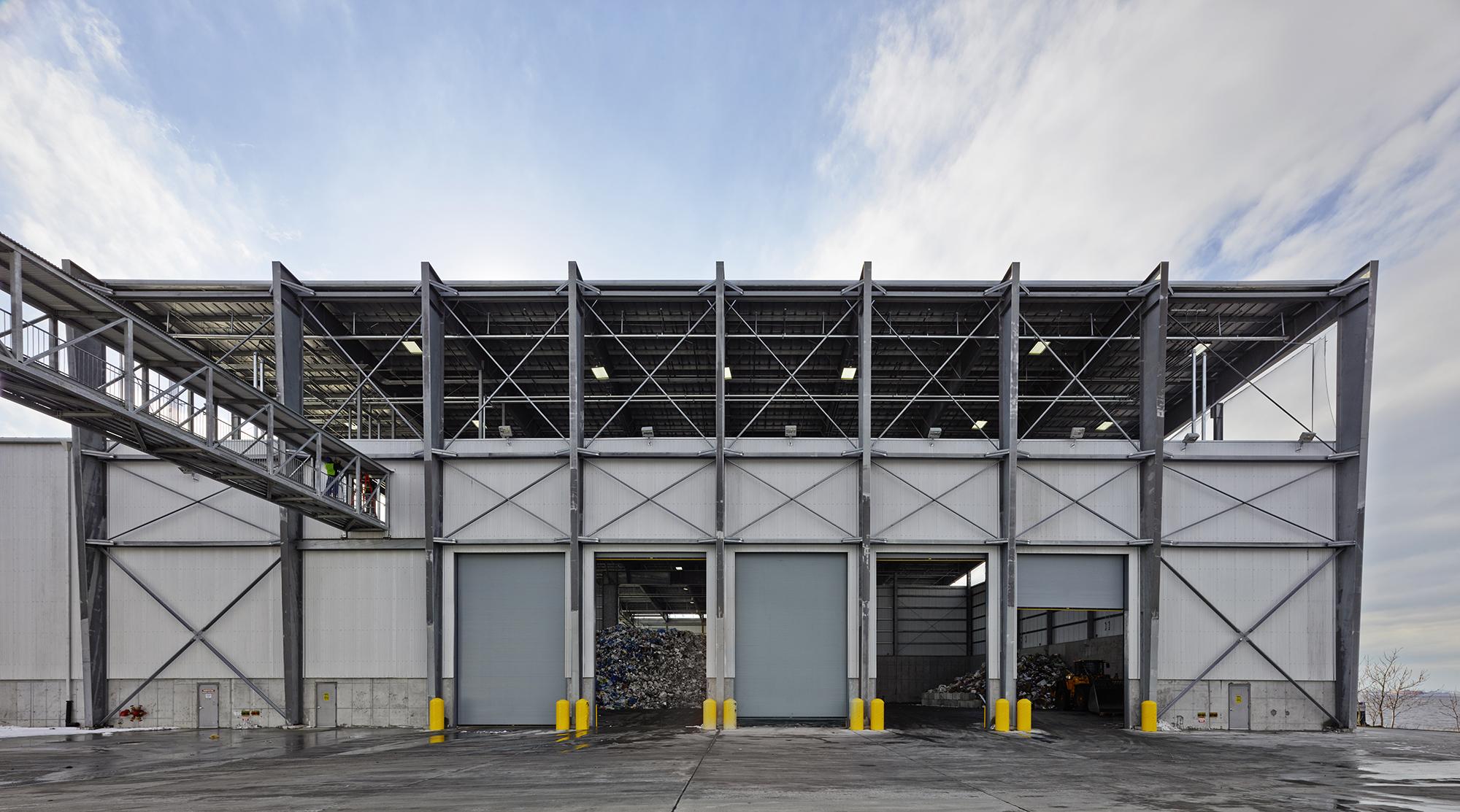 Sunset Park Material Recovery Facility, Brooklyn, NY, Selldorf Architects.Photo: Jason Schmidt, courtesy of Selldorf Architects.