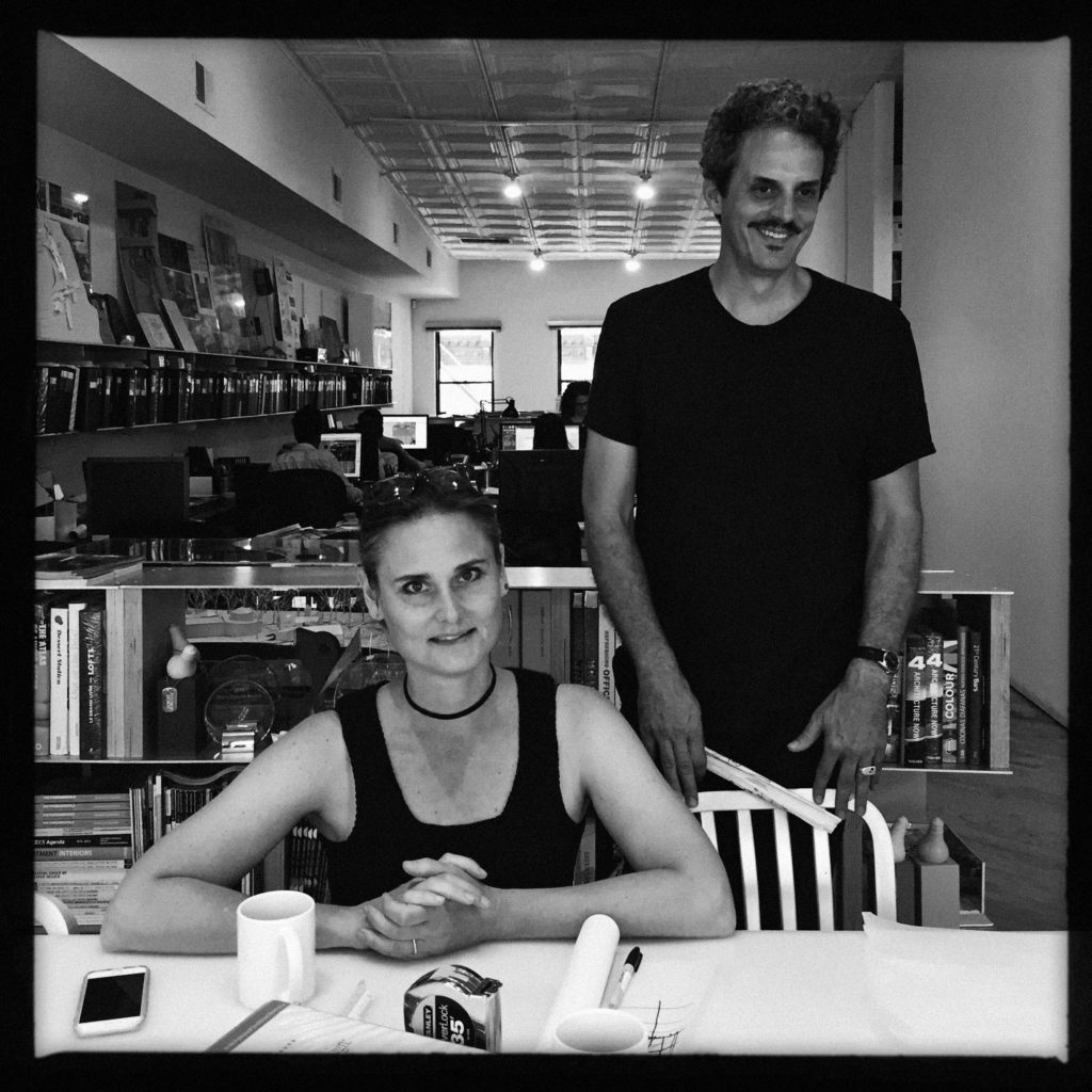 Hayes and James Slade at their office in NYC